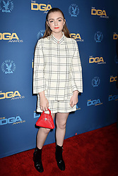 HOLLYWOOD, CA - FEBRUARY 02: Sarah Paulson attends the 71st Annual Directors Guild Of America Awards at The Ray Dolby Ballroom at Hollywood. 02 Feb 2019 Pictured: Elsie Fisher. Photo credit: Jeffrey Mayer/JTMPhotos, Int'l. / MEGA TheMegaAgency.com +1 888 505 6342