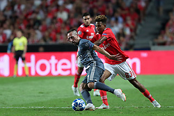 September 19, 2018 - Lisbon, Portugal - Bayern Munich's midfielder Franck Ribery from France vies with Benfica's Portuguese midfielder Gedson Fernandes during the UEFA Champions League Group E football match SL Benfica vs Bayern Munich at the Luz stadium in Lisbon, Portugal on September 19, 2018. (Credit Image: © Pedro Fiuza/NurPhoto/ZUMA Press)