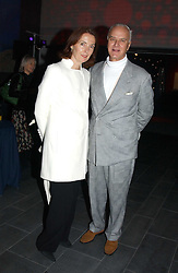 Shoe guru MANOLO BLAHNIK and fashion designer CATHERINE WALKER at the launch party for 'The London Look - Fashion From Street to Catwalk' held at the Museum of London, London Wall, Londom EC2 on 28th October 2004<br /><br />NON EXCLUSIVE - WORLD RIGHTS