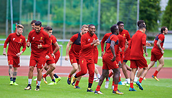 ROTTACH-EGERN, GERMANY - Friday, July 28, 2017: Liverpool's Daniel Sturridge during a training session at FC Rottach-Egern on day three of the preseason training camp in Germany. (Pic by David Rawcliffe/Propaganda)