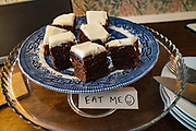 Cake for guests. Brownber Hall Country House near Kirkby Stephen, in Yorkshire Dales National Park, Cumbria county, England, United Kingdom, Europe. England Coast to Coast hike day 6 of 14: Ullswater to Kirkby Stephen. [This image, commissioned by Wilderness Travel, is not available to any other agency providing group travel in the UK, but may otherwise be licensable from Tom Dempsey – please inquire at PhotoSeek.com.]