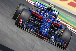May 11, 2018 - Barcelona, Catalonia, Spain - PIERRE GASLY (FRA) drives during the first practice session of the Spanish GP at Circuit de Catalunya in his Toro Rosso STR13 (Credit Image: © Matthias Oesterle via ZUMA Wire)