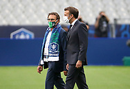 Co-president of AS Saint-Etienne Roland Romeyer, French President Emmanuel Macron during the French Cup final football match between Paris Saint-Germain (PSG) and Saint-Etienne (ASSE) on Friday 24, 2020 at the Stade de France in Saint-Denis, near Paris, France - Photo Juan Soliz / ProSportsImages / DPPI