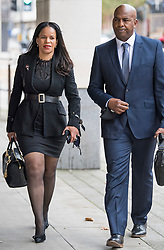© Licensed to London News Pictures. 11/11/2020. London, UK. Labour MP CLAUDIA WEBBE MP (left) arrives at Westminster Magistrates Court in London where she is charged with harassment. Webbe, who is the MP for Leicester East, is accused of harassing a woman  Photo credit: Ben Cawthra/LNP