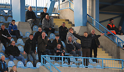 Fans of ND Gorica during football match between ND Gorica and ND Mura 05 in 20th Round of Slovenian First League PrvaLiga NZS 2012/13 on November 24, 2012 in Nova Gorica, Slovenia. (Photo By Ales Cipot / Sportida)