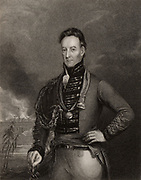 Major-General Charles Shipley (1755-1815) British soldier. Served mainly in West Indies. Governor of Grenada 1813-1815. Engraving of portrait by Eckstein