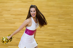 Cheerleaders Ladies during basketball match between National teams of Latvia and Slovenia in Qualifying Round of U20 Men European Championship Slovenia 2012, on July 16, 2012 in Domzale, Slovenia. Slovenia defeated Latvia 69-62. (Photo by Vid Ponikvar / Sportida.com)