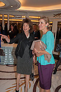 FELICITY WALEY-COHEN; HAYAT PALUMBO, The Foreign Sisters lunch sponsored by Avakian in aid of Cancer Research UK. The Dorchester. 15 May 2012