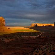 USA, AZ, UT, Arizona, Utah, West, Southwest, Navajo Nation, Navajo Reservation, Monument Valley, Merrick Butte in Monument Valley Tribal Park of the Navajo Nation, AZ.
