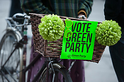 © Licensed to London News Pictures.  05/05/2015. Bristol, UK. Green Party rally at the Victoria Rooms in Bristol.  Author and Food Poverty Campaigner, Jack Monroe, comes to Bristol West to support Green Party PPC Darren Hall in one of the Green Party's key target constituencies. Monroe met Hall alongside Green Party Leader, Natalie Bennett, and other Green Party elected representatives including Jean Lambert MEP, Baroness Jenny Jones the Green Party Member for the London Assembly and Darren Johnson member of the London Assembly.  The event is seen as a chance for floating voters to come and ask questions of the Green Party Leadership, face to face, before polling day which is now just a little more than 24hrs away.  Photo credit : Simon Chapman/LNP