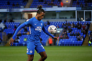 Peterborough United forward Ivan Toney (17) controls the ball during  the The FA Cup 2nd round match between Peterborough United and Bradford City at London Road, Peterborough, England on 1 December 2018.