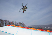 Cassie Sharpe, Canada, during the womens skiing halfpipe finals at the Pyeongchang 2018 Winter Olympics on February 20th 2018, at the Phoenix Snow Park in Pyeongchang-gun, South Korea