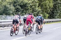 11.07.2019, Kitzbühel, AUT, Ö-Tour, Österreich Radrundfahrt, 5. Etappe, von Radstadt nach Fuscher Törl (103,5 km), im Bild v.l. Spitzengruppe, Mario Gamper (Tirol KTM Cycling Team, AUT), Brice Feillu (Arkea Samsic, FRA), Yannik Achterberg (Maloja Pushbikers, GER), Michal Podlaski (Wibatech Merx, POL), Andi Bajc (Team Felbermayr Simplon Wels, SLO) // v.l. Spitzengruppe, Mario Gamper (Tirol KTM Cycling Team, AUT), Brice Feillu (Arkea Samsic, FRA), Yannik Achterberg (Maloja Pushbikers, GER), Michal Podlaski (Wibatech Merx, POL), Andi Bajc (Team Felbermayr Simplon Wels, SLO) during 5th stage from Bruck an der Glocknerstraße to Kitzbühel (161,9 km) of the 2019 Tour of Austria. Kitzbühel, Austria on 2019/07/11. EXPA Pictures © 2019, PhotoCredit: EXPA/ JFK