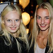NLD/Amsterdam/20121011- 15 Jarig bestaan Armani Store Amsterdam, modellen Steffie Sudda en Maartjer ter Hoef