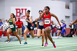 womens 60 meter prelim 4, Florida Atlantic, Whyte, Natalliah<br /> Boston University Scarlet and White<br /> Indoor Track & Field, Bruce LeHane