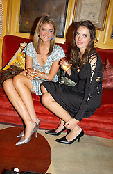 Left to right, VIOLET VON WESTENHOLTZ and MARINA HANBURY at a private dinner and presentation of Issa's Autumn-Winter 2005-2006 collection held at Annabel's, 44 Berkeley Square, London on 15th March 2005.<br />