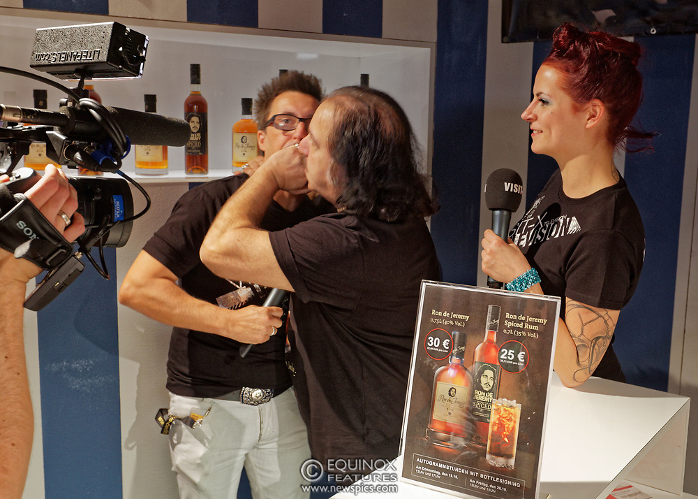 Berlin, Germany - 18 October 2012<br /> Porn star Ron Jeremy promoting his 'Ron Jeremy' brand of rum at the Venus Berlin 2012 adult industry exhibition in Berlin, Germany. Ron Jeremy, born Ronald Jeremy Hyatt, has been an American pornographic actor since 1979. He faces sexual assault allegations which he strenuously denies. There is no suggestion that any of the people in these pictures have made any such allegations.<br /> www.newspics.com/#!/contact<br /> (photo by: EQUINOXFEATURES.COM)<br /> Picture Data:<br /> Photographer: Equinox Features<br /> Copyright: ©2012 Equinox Licensing Ltd. +448700 780000<br /> Contact: Equinox Features<br /> Date Taken: 20121018<br /> Time Taken: 12373347