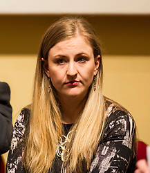 Pictured: Angela Haggarty<br /> <br /> Scottish event to inform the 'Future for Public Service Television Inquiry' chaired by Lord Puttnam. Speakers are Angela Haggerty, Editor, Common Space; David Fleetwood, Policy Official, Scottish Government; Stuart Cosgrove, journalist, broadcaster and former Head of Programmes (Nations and Regions), Channel 4; Professor Neil Blain, Professor Emeritus of Communications at the University of Stirling; John McCormick FRSE, Chair of the Scottish Screen Leadership Group, and former Controller of BBC Scotland <br /> Ger Harley | EEm 13 April 2016
