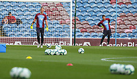 Burnley's Tom Heaton and Joe Hart warm up before the match<br /> <br /> Photographer Alex Dodd/CameraSport<br /> <br /> UEFA Europa League - UEFA Europa League Qualifying Second Leg 2 - Burnley v Olympiakos - Thursday August 30th 2018 - Turf Moor - Burnley<br />  <br /> World Copyright © 2018 CameraSport. All rights reserved. 43 Linden Ave. Countesthorpe. Leicester. England. LE8 5PG - Tel: +44 (0) 116 277 4147 - admin@camerasport.com - www.camerasport.com