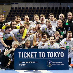 20210314 GER, Handball - IHF Men's Tokyo Olympic Qualification 2021, Algeria vs Germany