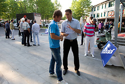 Blaz Kavcic, najboljsi slovenski teniski igralec  na okrogli mizi O slovenskem tenisu v organizaciji Sportforum Slovenija, on May 17, 2011 in BTC, Ljubljana, Slovenia. (Photo By Vid Ponikvar / Sportida.com)