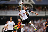 caption correction : Matt Ritchie of Newcastle United beats Tomas Kalas of Fulham to head the ball. Skybet EFL championship match, Fulham v Newcastle Utd at Craven Cottage in Fulham, London on Friday 5th August 2016.<br /> pic by John Patrick Fletcher, Andrew Orchard sports photography.