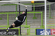 Trevor Horsley XI goalkeeper Joe Snell makes a save during the Trevor Horsley Memorial Match held at the New Lawn, Forest Green, United Kingdom on 19 May 2019.