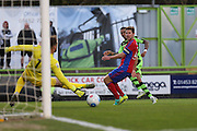 Forest Green Rovers Keanu Marsh-Brown(7) shoots at goal misses the target during the Vanarama National League match between Forest Green Rovers and Aldershot Town at the New Lawn, Forest Green, United Kingdom on 5 November 2016. Photo by Shane Healey.