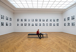 """Photographs by Gerhard Richter """"48 Portraits"""" at Albertinum art museum in Dresden, Germany."""