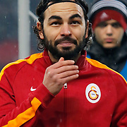 Galatasaray's Selcuk Inan during their Turkish superleague soccer match Besiktas between Galatasaray at Ataturk Olimpiyat Stadium in Istanbul Turkey on Sunday 04 January 2015. Photo by Aykut AKICI/TURKPIX