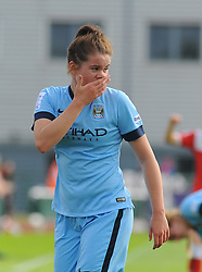 Manchester City Womens' Emma Kete in action. - Photo mandatory by-line: Nizaam Jones- Mobile: 07583 387221 - 28/09/2014 - SPORT - Women's Football - Bristol - SGS Wise Campus - BAWFC v Man City Ladies - sport