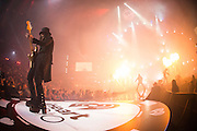 Motley Crue performing at the iHeartRadio Music Festival in Las Vegas, Nevada on Sepembter 20, 2014.
