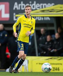Anton Skipper (Brøndby IF) under kampen i 3F Superligaen mellem Brøndby IF og Lyngby Boldklub den 1. marts 2020 på Brøndby Stadion (Foto: Claus Birch).