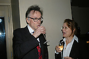 ANDREW BARROW AND KATE ROBERTSON, The launch of ' Cooler, Faster, More Expensive, - the Return of the Sloane Ranger. By Peter York and Olivia Stewart-Liberty. Kitts. 7-12 Sloane sq. London. 15 October 2007. -DO NOT ARCHIVE-© Copyright Photograph by Dafydd Jones. 248 Clapham Rd. London SW9 0PZ. Tel 0207 820 0771. www.dafjones.com.
