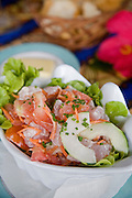 Poisson Cru, Les Tipaniers Hotel & Restaurant, Moorea, French Polynesia