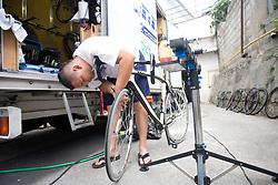Service of Adria Mobil club at day before start of Tour de Slovenie 2009, on June 17 2009, in Koper, Slovenia. (Photo by Vid Ponikvar / Sportida)