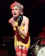 Katie Alice Greer of American post-punk band Priests at Queer Festival Heidelberg