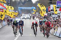 Arrival, Sprint / KRISTOFF Alexander (NOR)/ TERPSTRA Niki (NED)/ ERVITI Imanol (ESP) during the 100th Tour of Flanders 2016,  Brugge - Oudenaarde (255Km) in Belgium, on April 3, 2016 - Photo Tim de Waele / DPPI