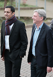 New Scottish Labour leader Richard Leonard, Sunday 19th November 2017<br /> <br /> New Scottish Labour leader Richard Leonard meets MPs, MSPs and volunteers on his first day in charge.<br /> <br /> Pictured: Anas Sarwar and Richard Leonard<br /> <br /> (c) Alex Todd | Edinburgh Elite media