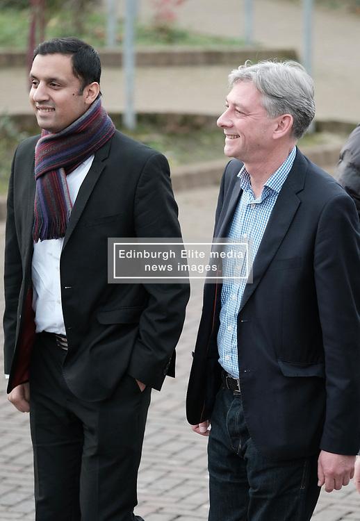 New Scottish Labour leader Richard Leonard, Sunday 19th November 2017<br /> <br /> New Scottish Labour leader Richard Leonard meets MPs, MSPs and volunteers on his first day in charge.<br /> <br /> Pictured: Anas Sarwar and Richard Leonard<br /> <br /> (c) Alex Todd | Edinburgh Elite media