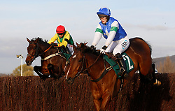 Finian's Oscar ridden by Bryan Cooper trails Coo Star Sivola ridden by Lizzie Kelly before going on to win The Steel Plate and Sections Novices' Steeple Chase Race run during day one of the November Meeting at Cheltenham Racecourse, Cheltenham. PRESS ASSOCIATION Photo. Picture date: Friday November 17, 2017. See PA story RACING Cheltenham. Photo credit should read: Julian Herbert/PA Wire