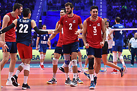 Celebration of Taylor Sander, Aaron Russell and Shoji of USA.<br /> Torino 30-09-2018 Pala Alpitour <br /> FIVB Volleyball Men's World Championship <br /> Pallavolo Campionati del Mondo Uomini <br /> Finals / 3th place<br /> Serbia - USA  <br /> Foto Antonietta Baldassarre / Insidefoto