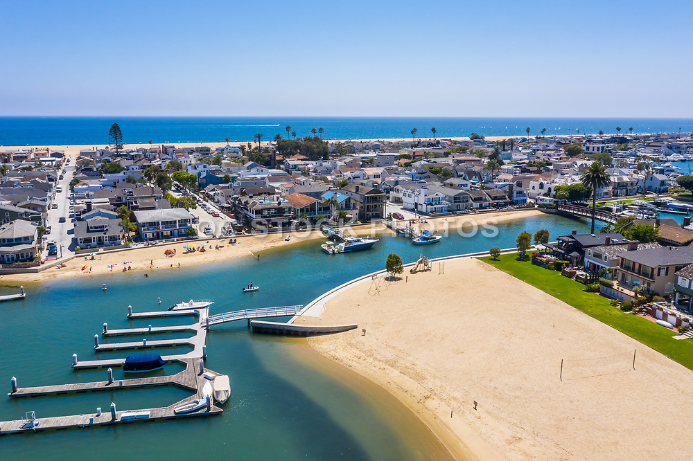 Private Beaches at Harbor Island and Bay Island Newport Beach