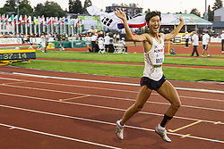 mens high jump, Sanghyeok Woo, Korea, 3rd, victory lap