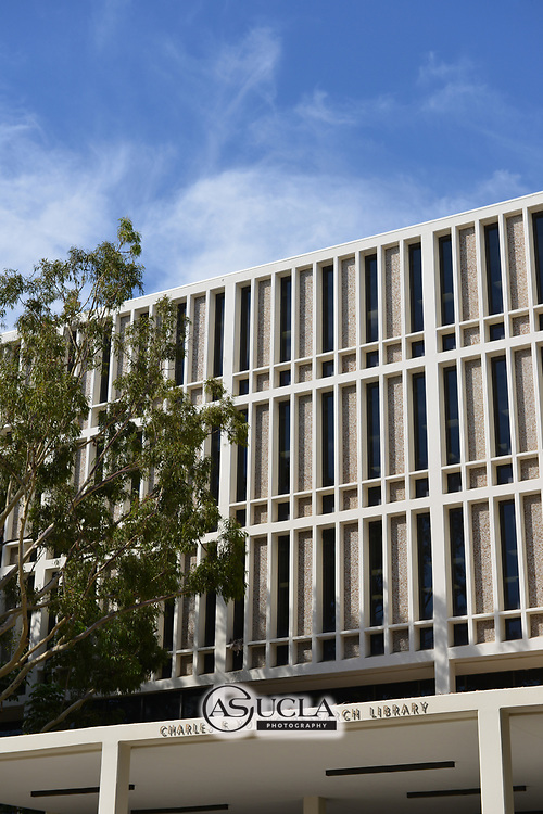ASUCLA Photography Archive -  Exterior image of Charles E. Young Research Library, UCLA Campus. University of California Los Angeles, Westwood, California.<br /> <br /> Copyright: ASUCLA