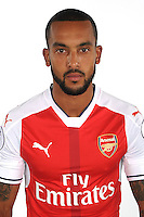 ST ALBANS, ENGLAND - AUGUST 03: (EXCLUSIVE COVERAGE)  Theo Walcott of Arsenal at the 1st team photocall at London Colney on August 3, 2016 in St Albans, England.  (Photo by Stuart MacFarlane/Arsenal FC via Getty Images)