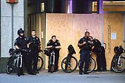 June 9, 2020: CLT police, Black Lives Matter vigil and street mural in uptown Charlotte NC