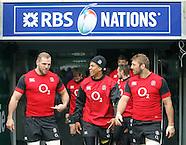 England Captains Run 280215
