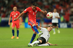 22nd June 2017 - FIFA Confederations Cup (Group B) - Germany v Chile - Sebastian Rudy of Germany tackles Mauricio Isla of Chile - Photo: Simon Stacpoole / Offside.