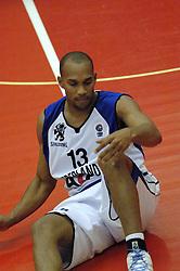 16-09-2006 BASKETBAL: NEDERLAND - ALBANIE: NIJMEGEN<br /> De basketballers hebben ook hun vierde wedstrijd in de kwalificatiereeks voor het Europees kampioenschap in winst omgezet. In Nijmegen werd een ruime overwinning geboekt op Albanie: 94-55 / Angelo Flanders<br /> ©2006-WWW.FOTOHOOGENDOORN.NL